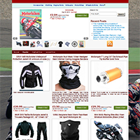 Шаблон магазина мотоциклов