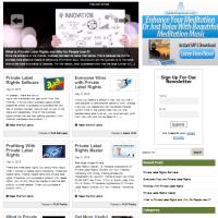 Шаблон блога Wordpress Права личной Марки