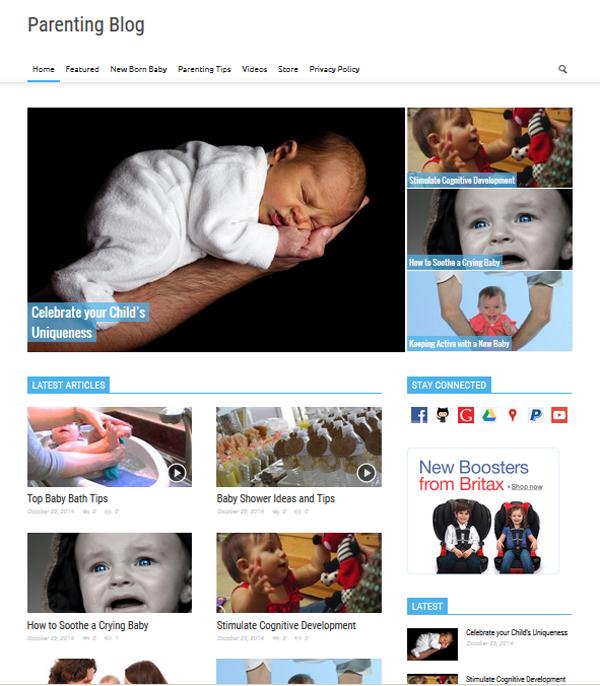 Вордпресс шаблон блога для родителей