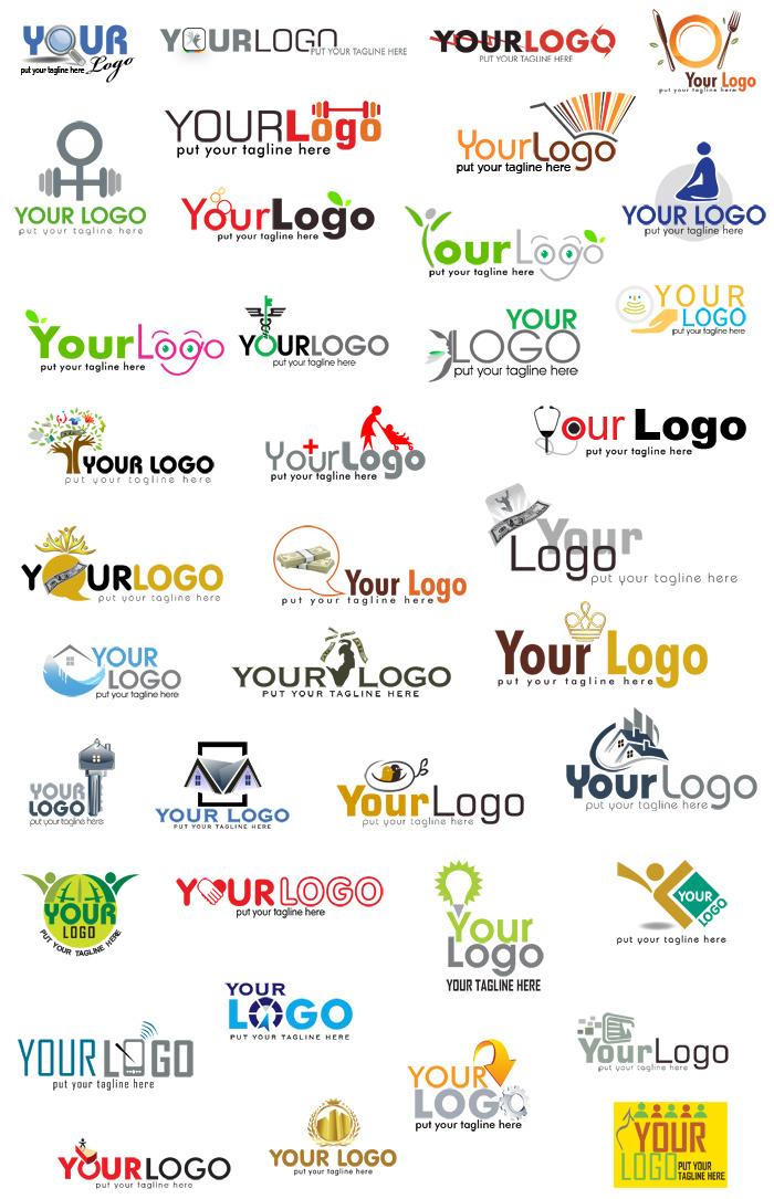 примеры логотипов в psd