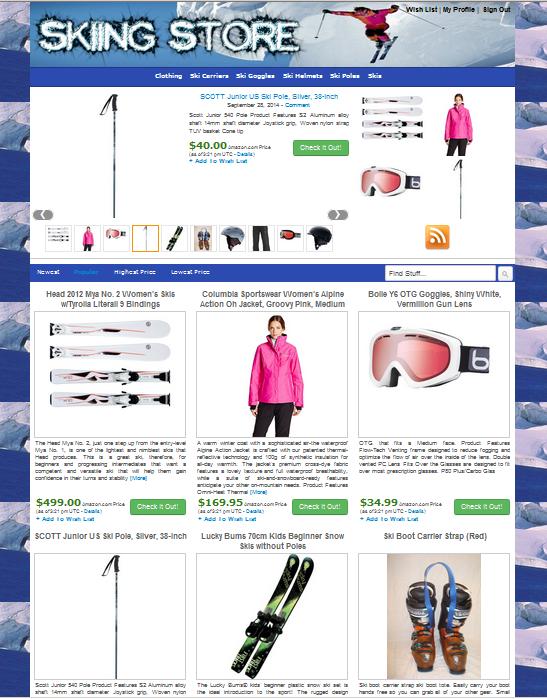 Готовый интернет-магазин на WordPress Лыжный Спорт
