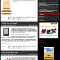 Шаблон блога Заработок с помощью электронных книг