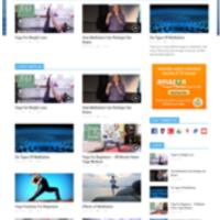 Шаблон для блога Медитация и Йога